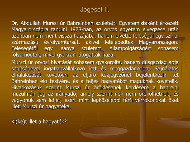Jogeset II.