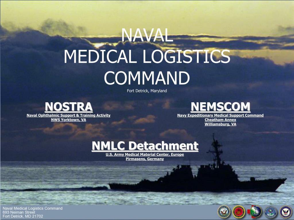 ppt naval medical logistics command fort detrick maryland