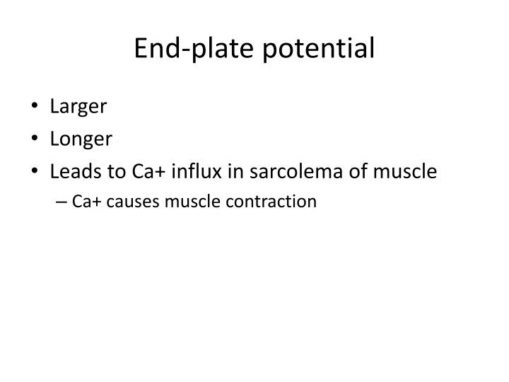 End-plate potential