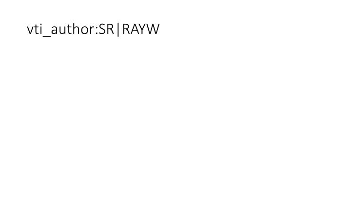 Vti author sr rayw