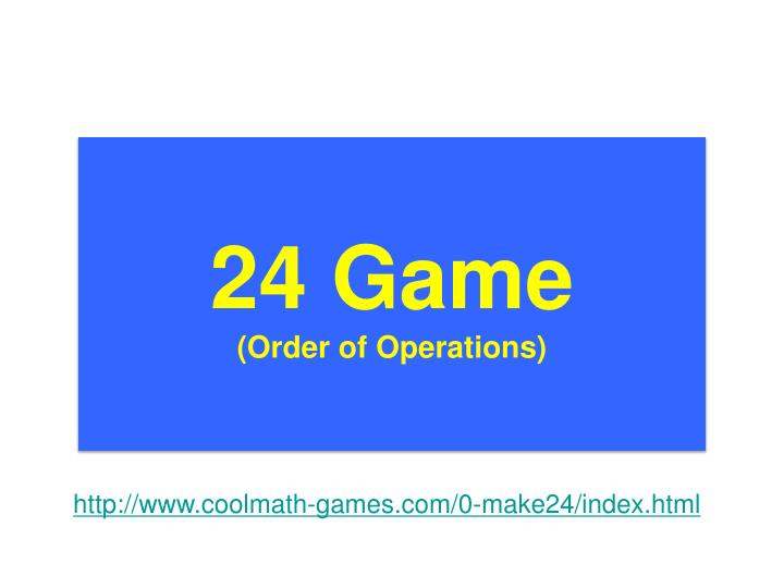 24 Game