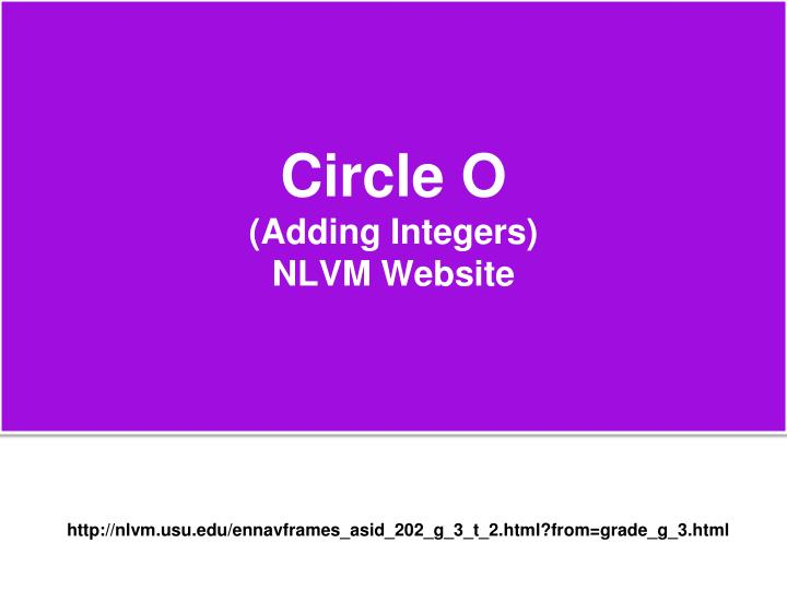 Circle O