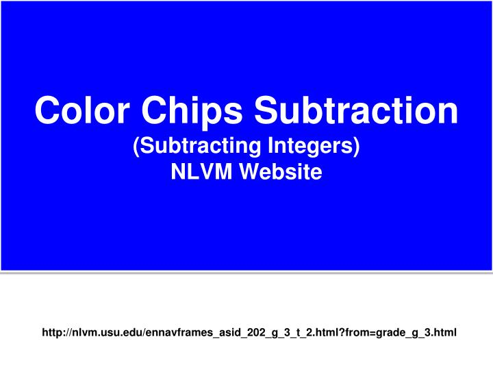 Color Chips Subtraction