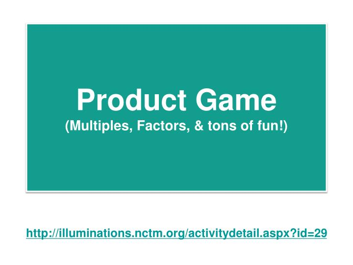Product Game
