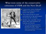 what were some of the conservative criticisms of fdr and the new deal