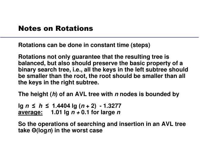 Notes on Rotations