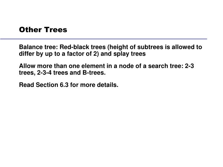 Other Trees
