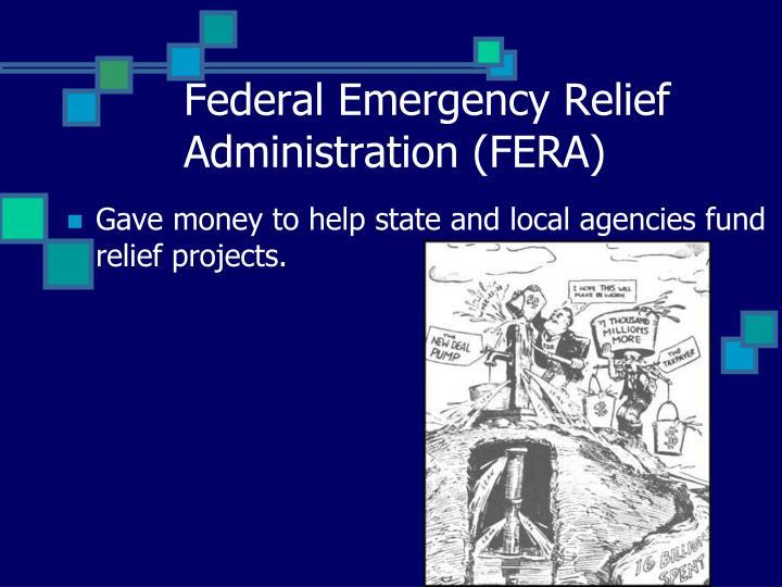 Federal Emergency Relief Administration (FERA)