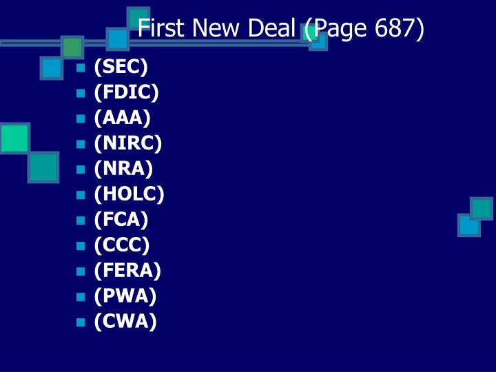 First New Deal (Page 687)