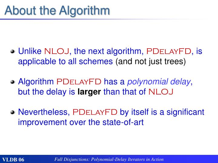About the Algorithm