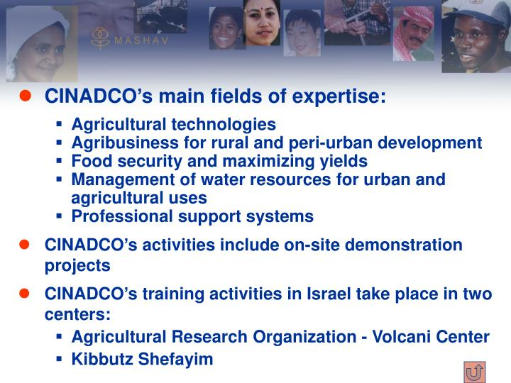 CINADCO's main fields of expertise: