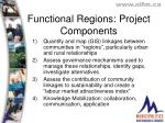 functional regions project components
