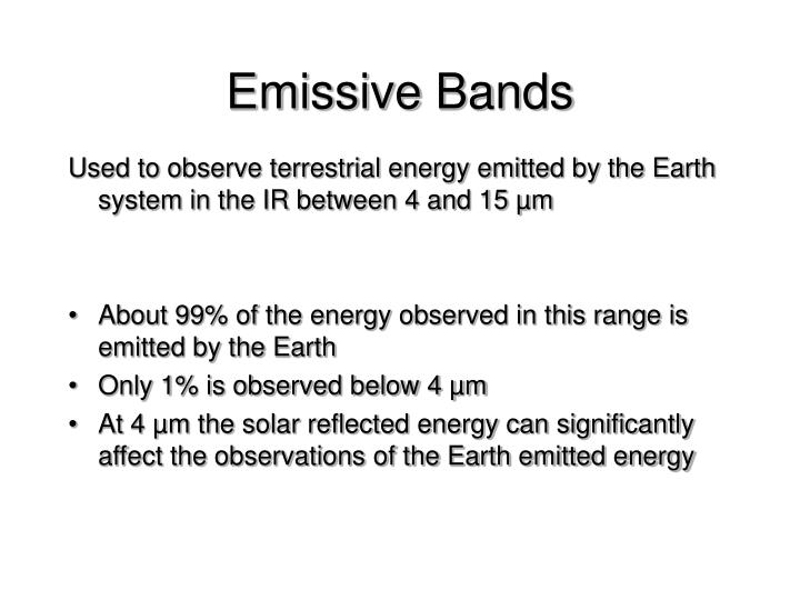 Emissive Bands