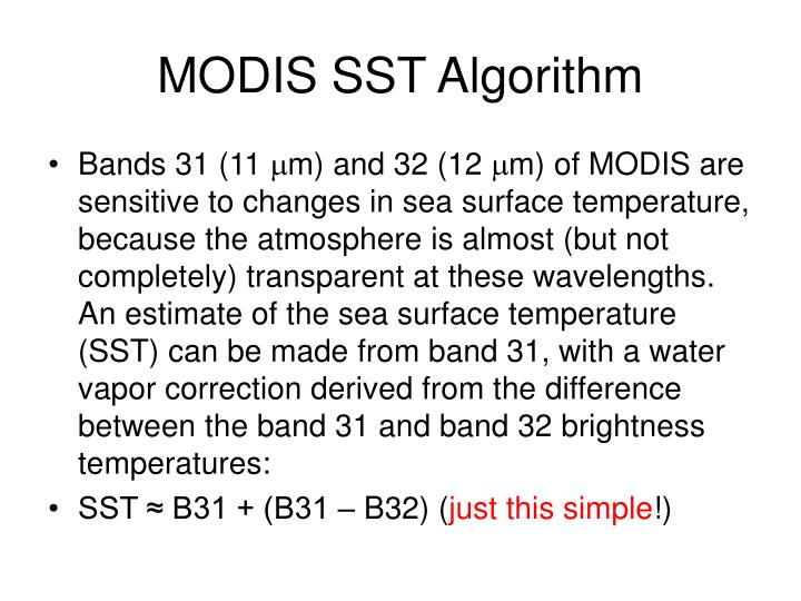 MODIS SST Algorithm