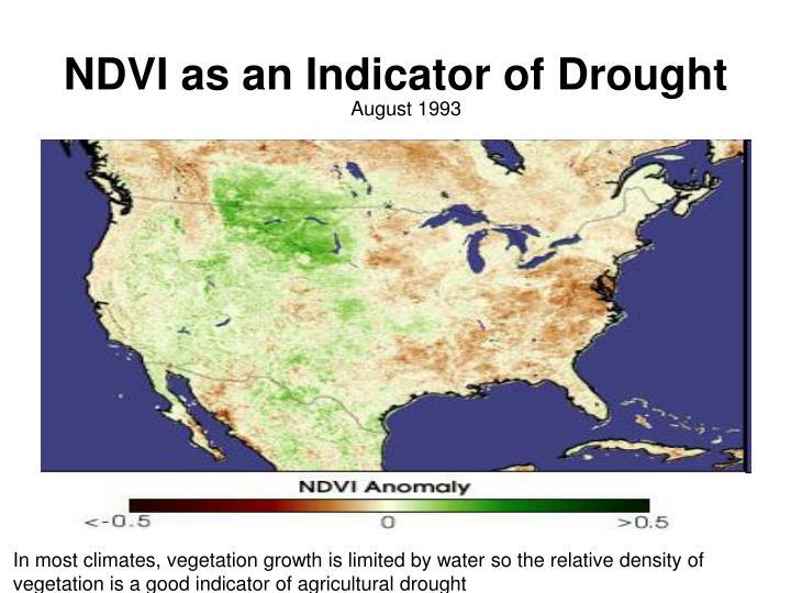 NDVI as an Indicator of Drought