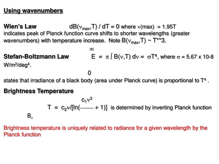 Using wavenumbers