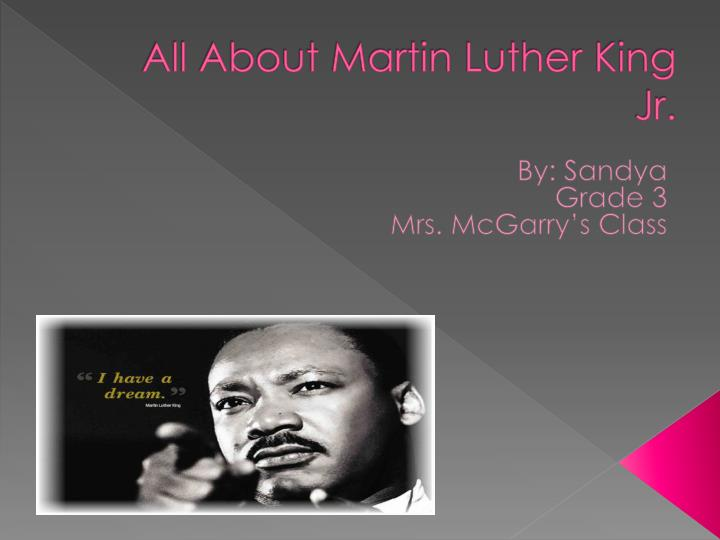 essay about martin luther king