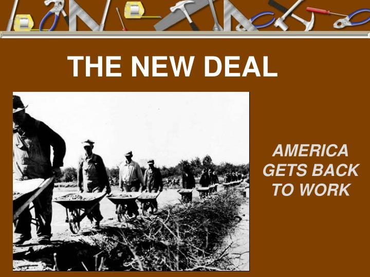 new deal america Commentary and archival information about the new deal (1930's) from the new york times news about the new make america great again for the people it was great.