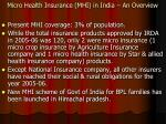 micro health insurance mhi in india an overview
