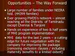 opportunities the way forward