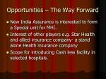 opportunities the way forward2
