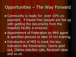 opportunities the way forward3