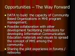 opportunities the way forward4