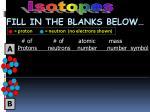 proton neutron no electrons shown