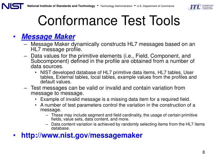 Conformance Test Tools