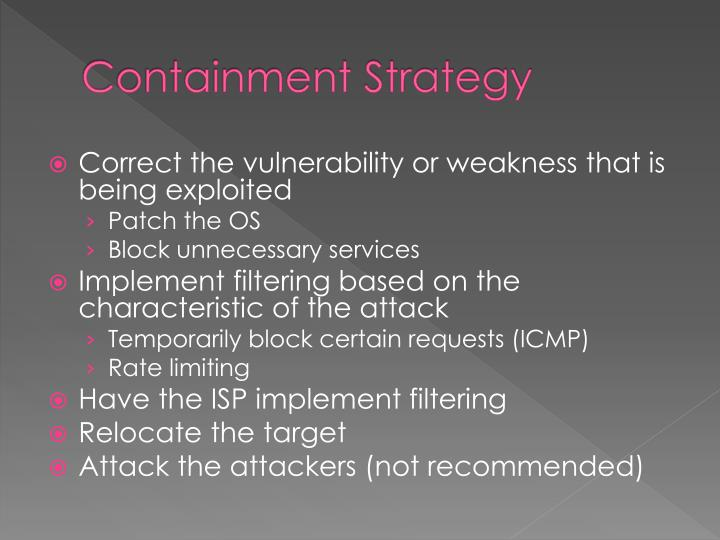 Containment Strategy
