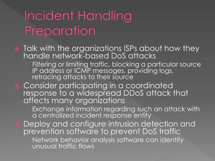 Incident Handling Preparation
