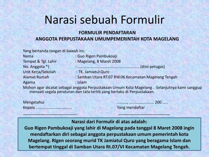 Ppt Formulir Powerpoint Presentation Id 4693145
