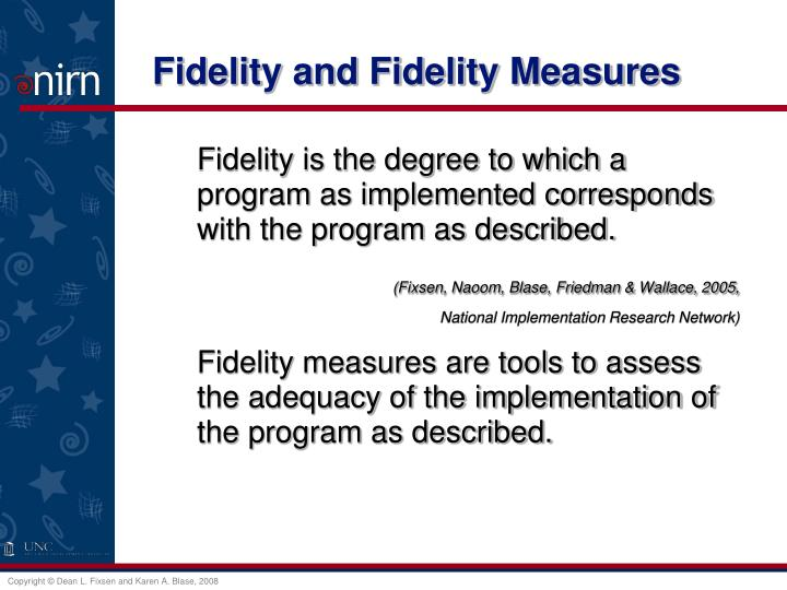 Fidelity and Fidelity Measures