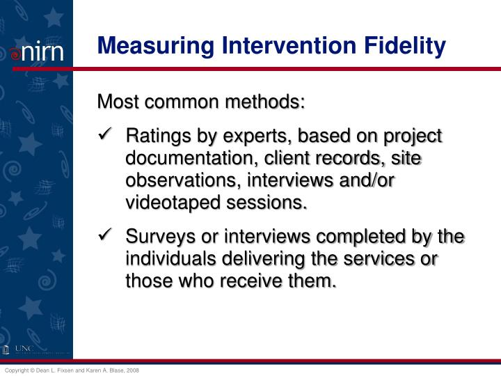 Measuring Intervention Fidelity