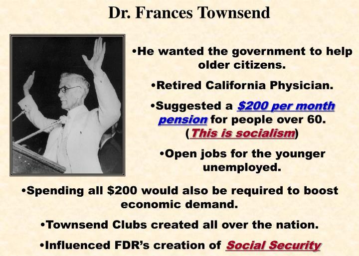 Dr. Frances Townsend