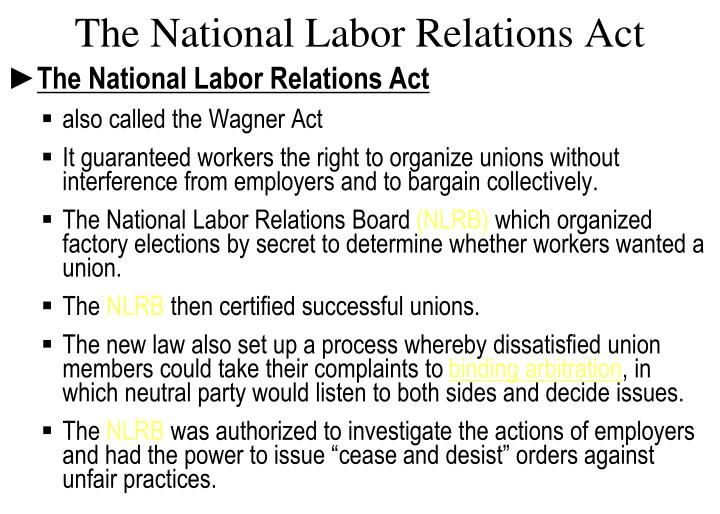 The National Labor Relations Act