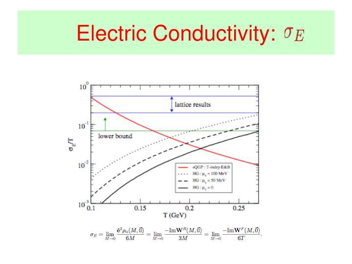 Electric Conductivity: