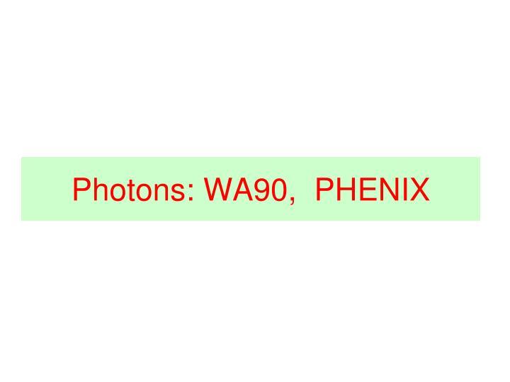 Photons: WA90,  PHENIX