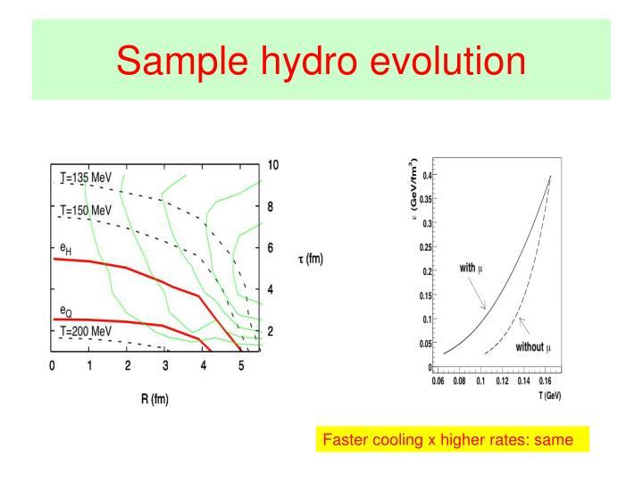 Sample hydro evolution