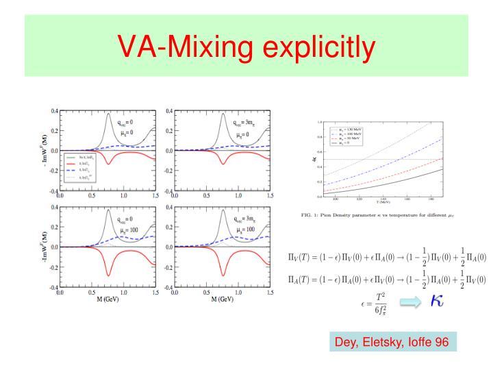 VA-Mixing explicitly