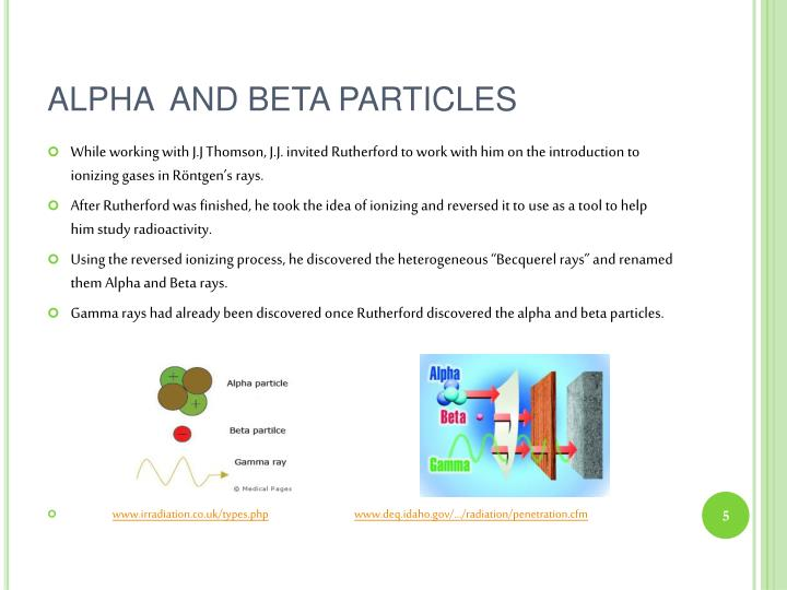 ALPHA  AND BETA PARTICLES