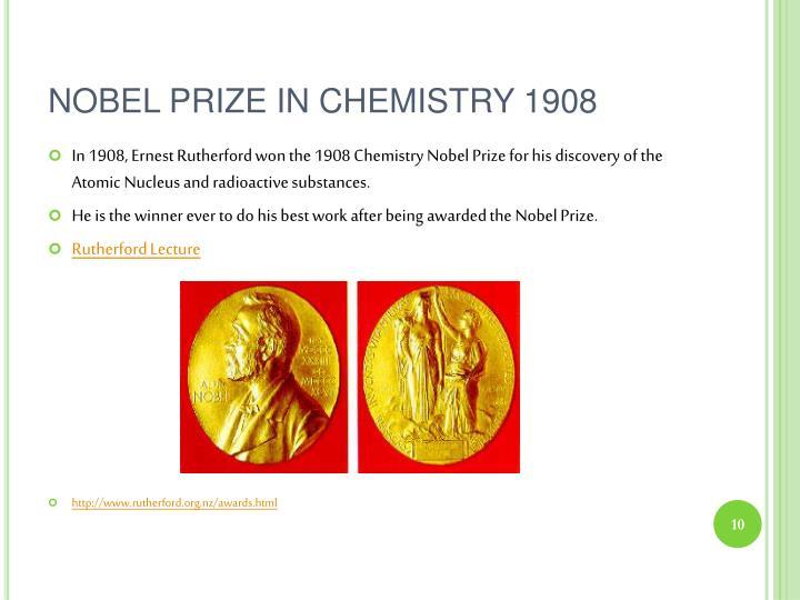 NOBEL PRIZE IN CHEMISTRY 1908