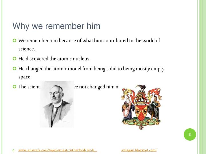 Why we remember him