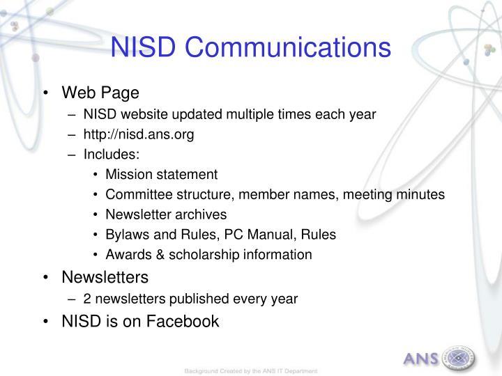 NISD Communications