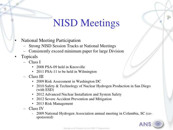 NISD Meetings