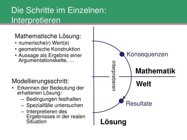 Mathematische Lösung: