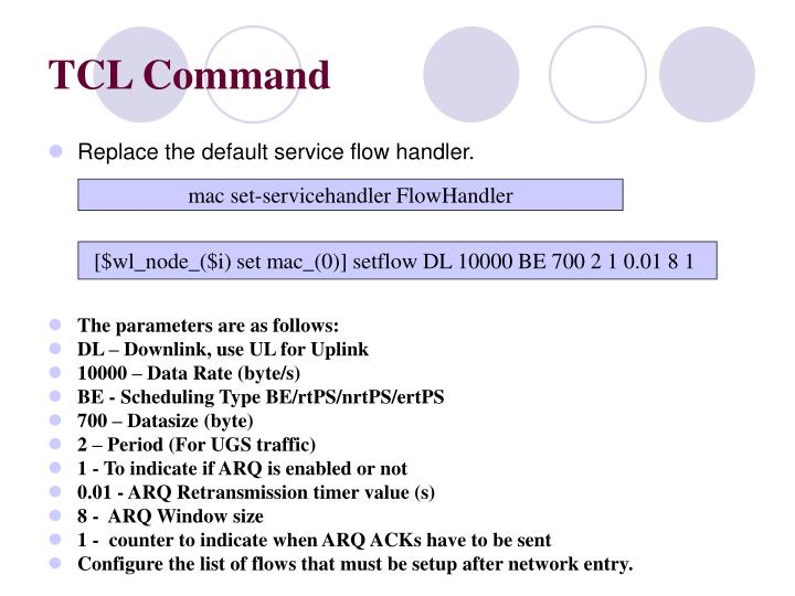 TCL Command