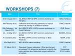 workshops 7