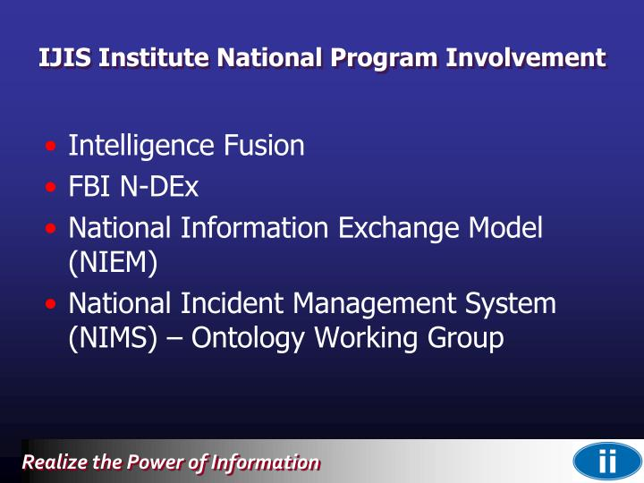 IJIS Institute National