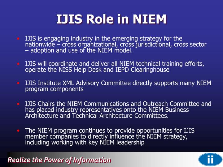 IJIS Role in NIEM